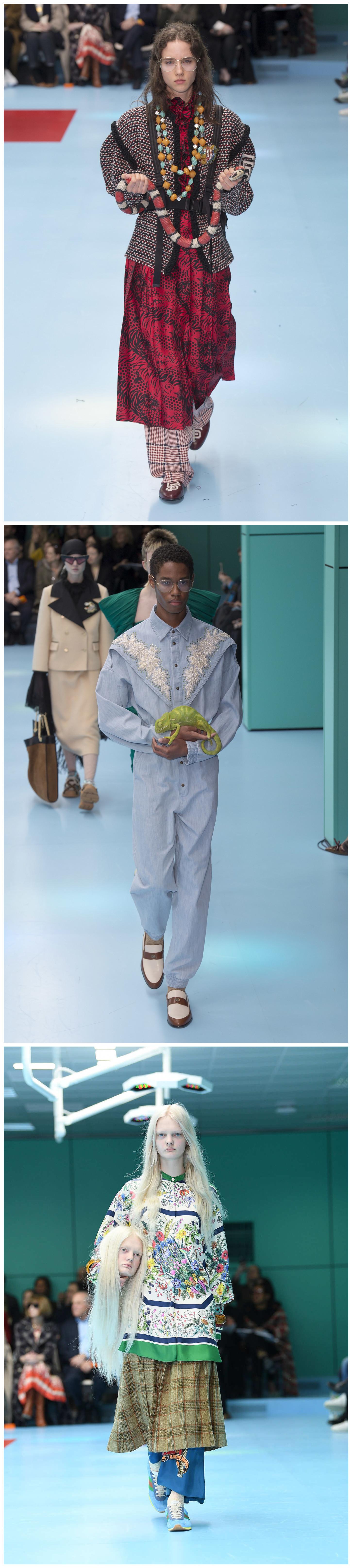 "wholesale dealer 47f1b de22e 秀场变成手术间,Gucci让模特抱着自己的""人头""走秀| 第一财经杂志"